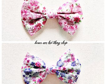 Floral Lace bow
