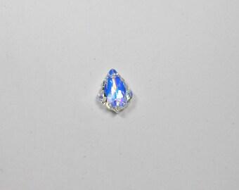 1 Crystal AB Baroque Swarovski Pendant, 22x15mm, Crystal AB, Baroque Pendant, Swarovski Pendant, Pendant, Bead, Supplies, Jewelry Supplies