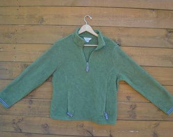 Vintage 90's LL Bean Sherpa Sweater with Pockets Size Large Made in USA