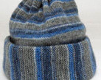 Knitting Pattern Hat Size 13 Needles : Mens knit hat knitting pattern Etsy UK