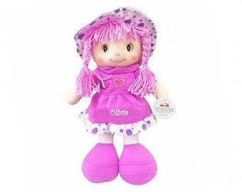 Personalized Sweetheart Cuddle Doll - 14 Inch, Purple