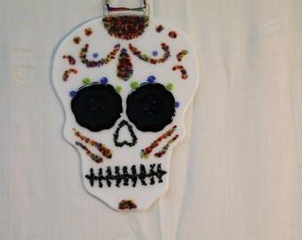 Sugar Skull - Fused Glass