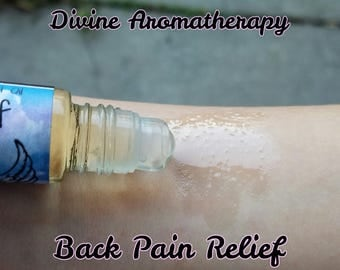 Divine Aromatherapy: Back Pain Relief (Massage)- Organic Essential Oils
