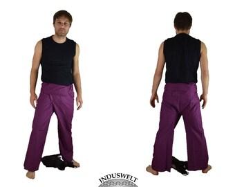 Thai Fisherman Pants Wrap Pants purple