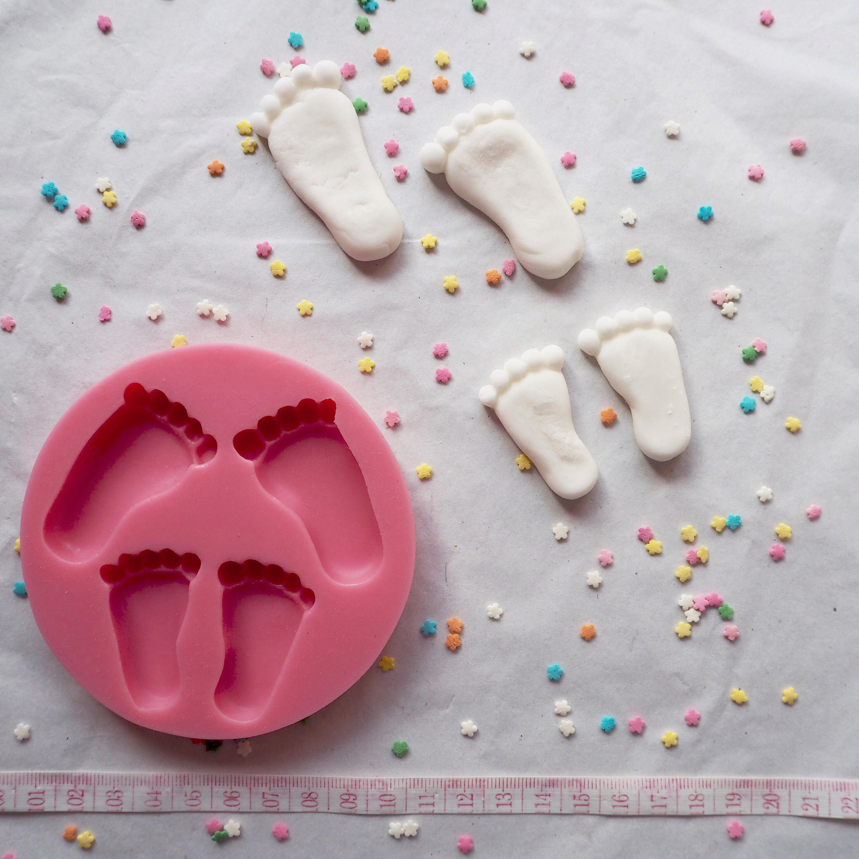 Baby Feet Silicone Mould Mold cake decorating cakes cupcakes