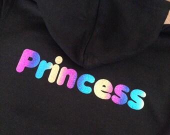 Princess Rainbow Sparkly Hoodie