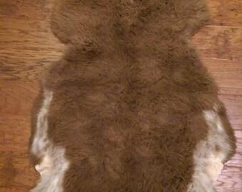 Romeldale CVM Sheep Rug/Tanned Pelt
