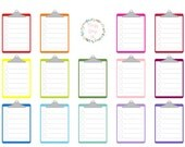 Rainbow Clip Board/To Do List Sticker