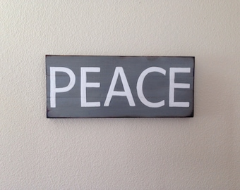 Pallet Style Peace Sign, hippie decor, peace decor, rustic