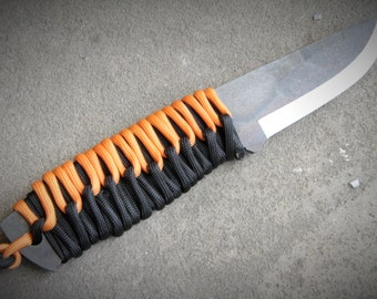 A2 Tool Steel Knive Classic Bushcraft knife Paracord Wrap