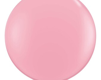 "Giant 36"" Pale Pink Balloon, Large Latex Balloons, Photo Props, First Birthday Decorations, Baby Shower, Bridal Shower, Wedding, for her"