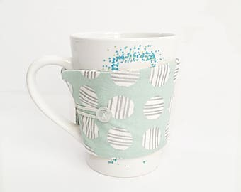 Coffee Cup Sleeve - Coffee Cup Cozy - Coffee Mug Cozy - Coffee Cup Holder - Mug Sleeve - Teacher Gift - Teacher Appreciation - Thank You Gif