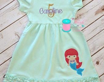 Birthday Dress - Princess Birthday Dress - Applique Dress - Summer Birthday Dress -  Birthday Ruffle Dress