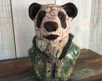 céramic raku Mister Panda