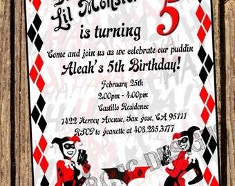 Harley Quinn Invitation