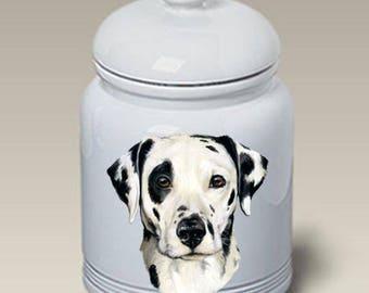 Dalmatian Ceramic Treat Jar