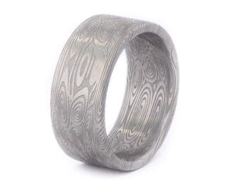 Damasteel Damascus Ring. Wedding And Engagement Ring. For Men And Women. Custom Made