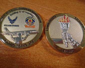 USAF 319th Mission Support Sq 319 ABW Grand Forks AFB Commander Challenge Coin