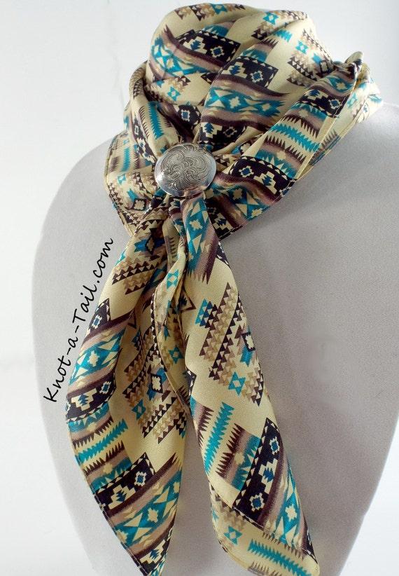 cowboy scarf rag scarf bandana larger size silk m aztect
