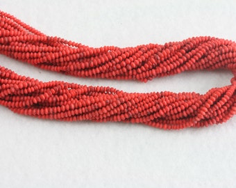 Tiny coral organic beads