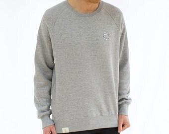 Organic Speckled Jumper - Grey