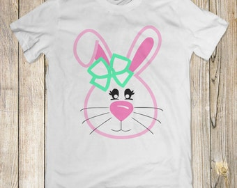 Cute Bunny Girl | Cute Easter Tee | Bunny Tee | Cute Bunny Shirt | Kids Easter Shirt | Girls Easter Shirt