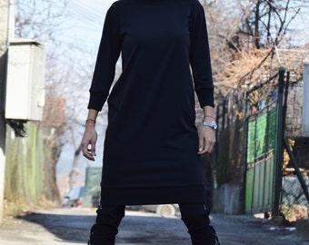 New Woman Extravagant Little Dress, Maxi Dress, Trendy Plus Size , Party Midi Dress, Daywear Black Dress by SSDfashion