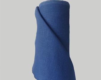 Linen Fabric Blue Indigo 100% Linen