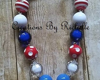 SALE....Baseball Chunky Necklace