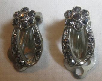 Lovely Marcasite Clip-On Earrings