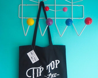 Tip Top Like Soda Pop Tote Shopper Bag - Black