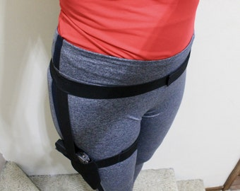 Thigh holster, Easy access thigh holster, walking holster, comfortable holster, jogging holster
