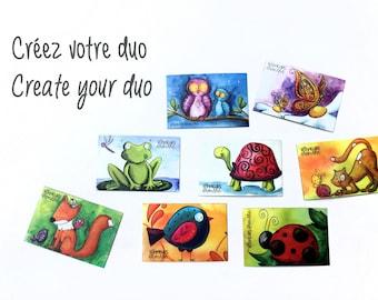 frog magnet, refrigerator magnetLes Bonheurs d'Amélie's drawing