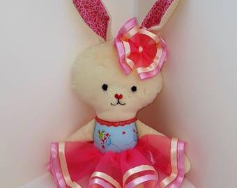 Handmade cuddle bunny doll