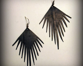 Sun of fringe earrings
