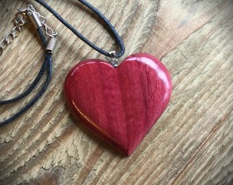 Purpleheart Wooden Pendant
