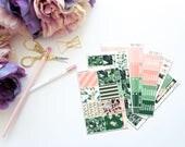 Palm Beach Vertical Weekly Kit-- Matte Planner Stickers