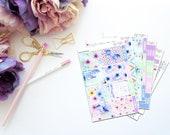 Prance -- Vertical Weekly Kit-- Matte Planner Stickers