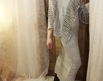 Linen clothing - Linen poncho Women's clothing MP101