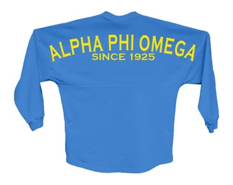 APhiO Alpha Phi Omega Since Jersey Choose Your Colors Fraternity Oversized Jersey