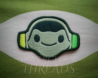 Sew-on patch - Overwatch Lucio Sound Barrier ultimate inspired embroidery -  8 cm / 3 in - costume and cosplay prop