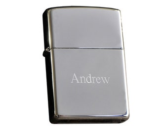 Engraved Zippo Lighter - High Polish - Personalized Zippo - Smoking Accessories