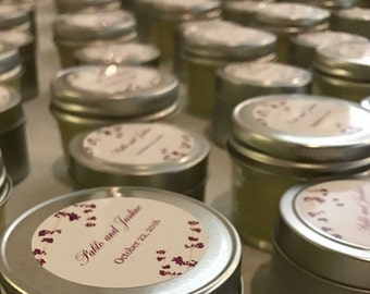 50 pc. Soy Candle Set/ Wedding Favors