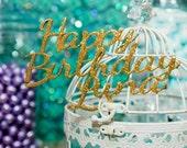 "Custom 3D ""Happy Birthday (Your Name)"" Cake Topper"