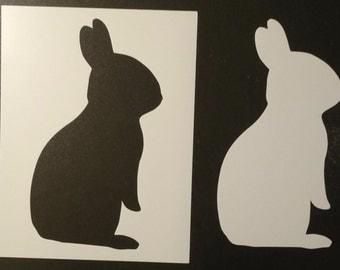 Bunny Rabbit Silhouette Custom Stencil FAST FREE SHIPPING