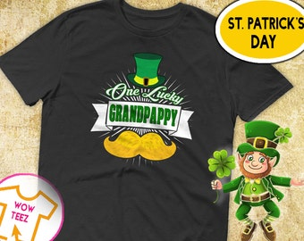 St Patricks Day, Grandpappy Shirt, One Lucky Grandpappy, St Paddy's Day, Irish T-Shirt, Grandpappy Irish Shirt, Irish Grandpappy, Grandpappy