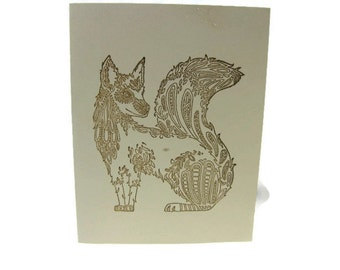 Wolf Blank Cards Set of Five