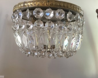 Crown Globe Flush Mount Chandelier Lighting UL Listed