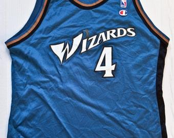 Chris Webber Washington Wizards NBA Champion basketball jersey vintage rare
