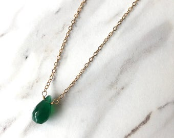 14 kgf Green Onyx necklace
